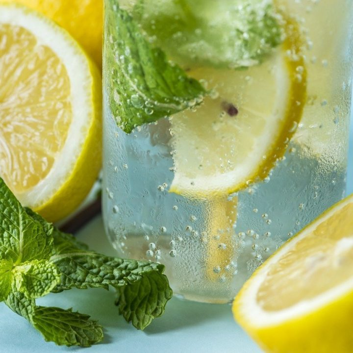 Lemon and Mint Infused Detox Water